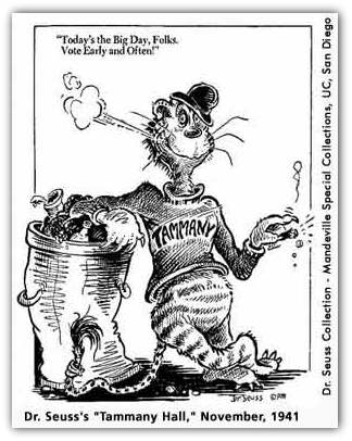 The inimitable Dr. Suess weighs in on corruption and vote-rigging by Tammany Hall.